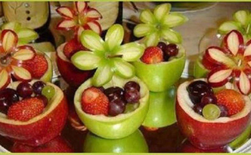 Идеальные варианты подачи фруктов на праздничный стол! Справится каждая хозяйка