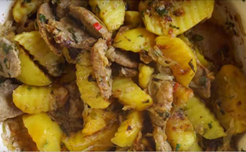 Вкуснейший картофель с мясом по-грузински