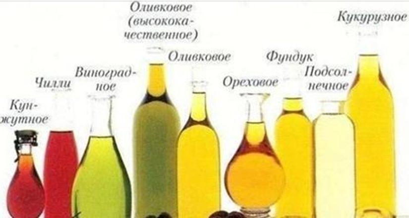 Растительные масла — информация о каждом. Пригодится!